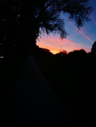 Die meisten Läufe im wunderschönen Sonnenuntergang