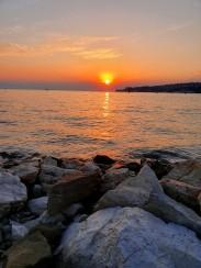 Sonnenuntergang auf unserem Strand