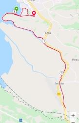 Radroute zur kroatischen Grenze