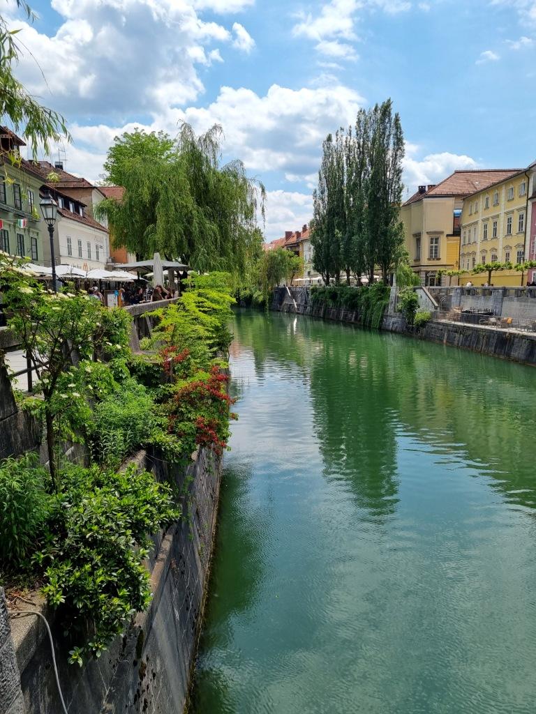 Die wundervolle Promenade in Ljubljana